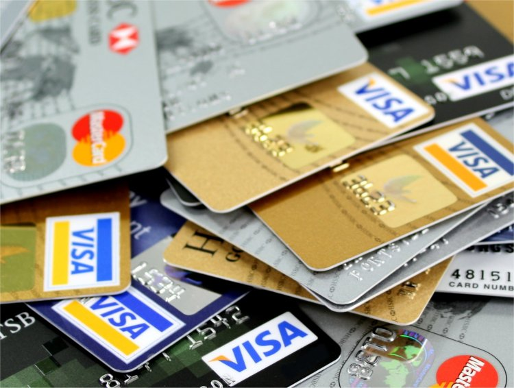 credit cards in a pile